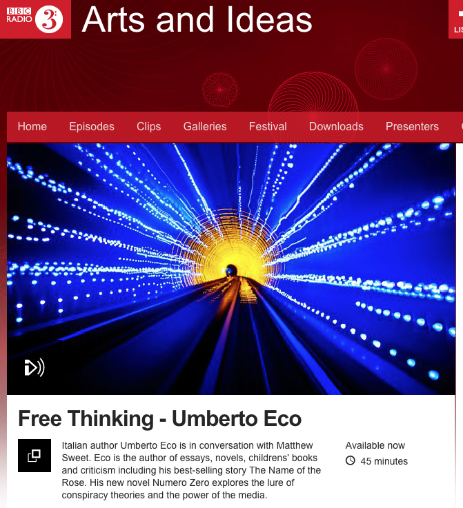 Learn Italian in Sydney at Italia 500 - Umberto Eco Free Thinking posdcast Art and Ideas