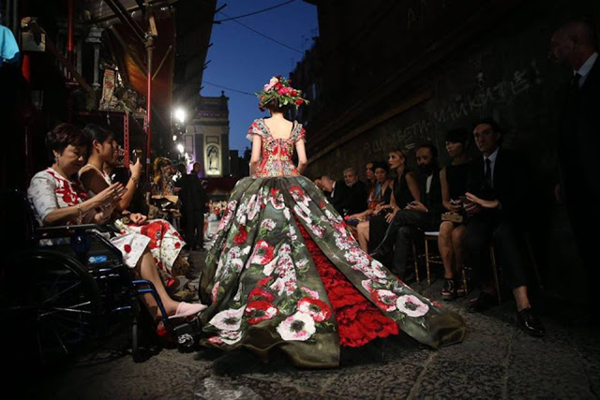 Dolce&Gabbana-AltaModa-Naples-July-2016 Italian lessons Sydney at Italia 500