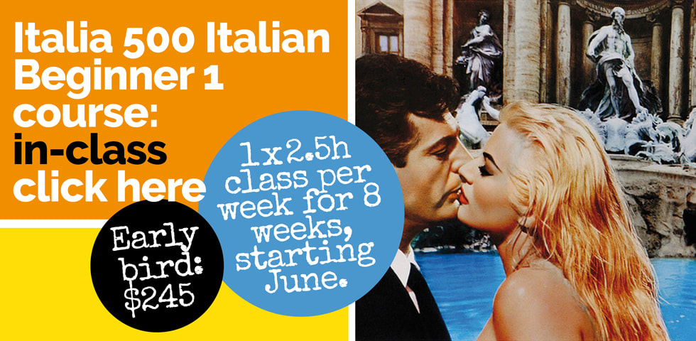 Italian classes Sydney at Italia 500 Sydney - Italia 500 Italian Beginner 1 course