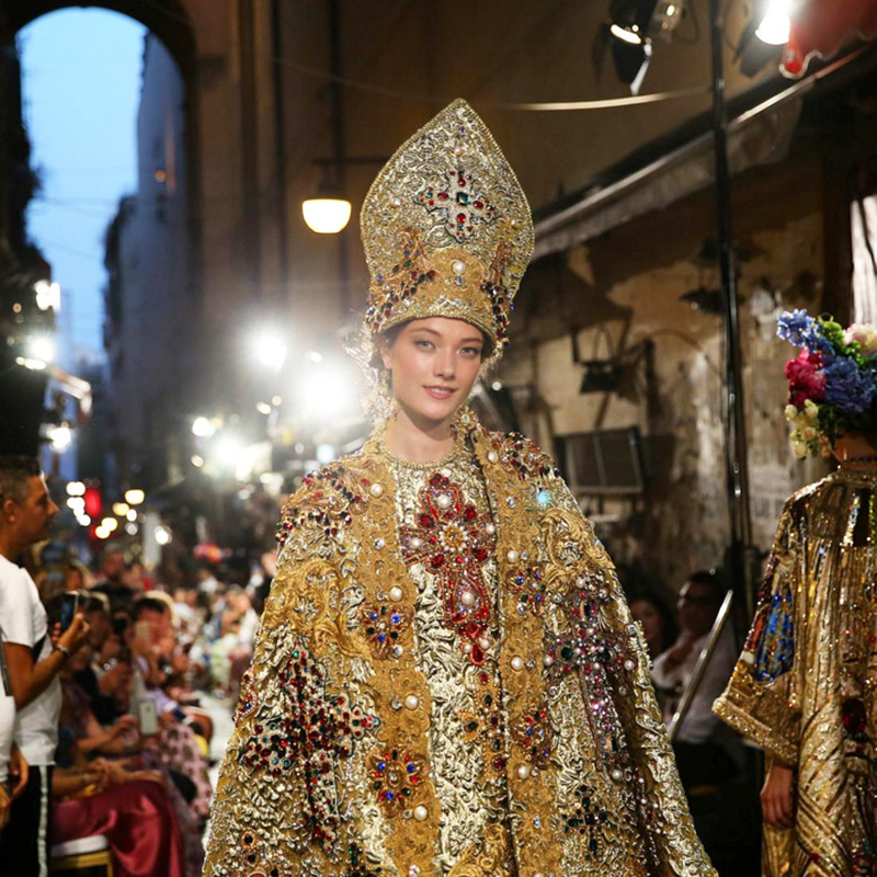 San Gennaro Dress Dolce e Gabbana - Italian courses Sydney at Italia 500